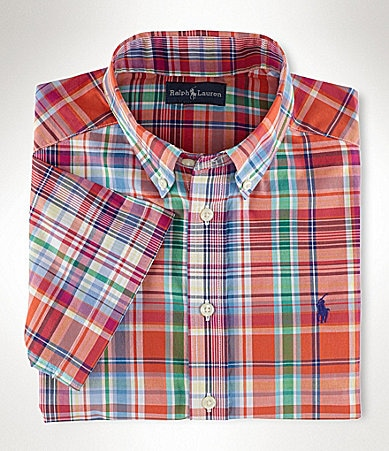 Ralph Lauren Childrenswear 8-20 Blake Plaid Shirt