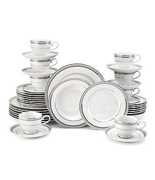 Mikasa Platinum Crown Embossed Porcelain 40-Piece China Set