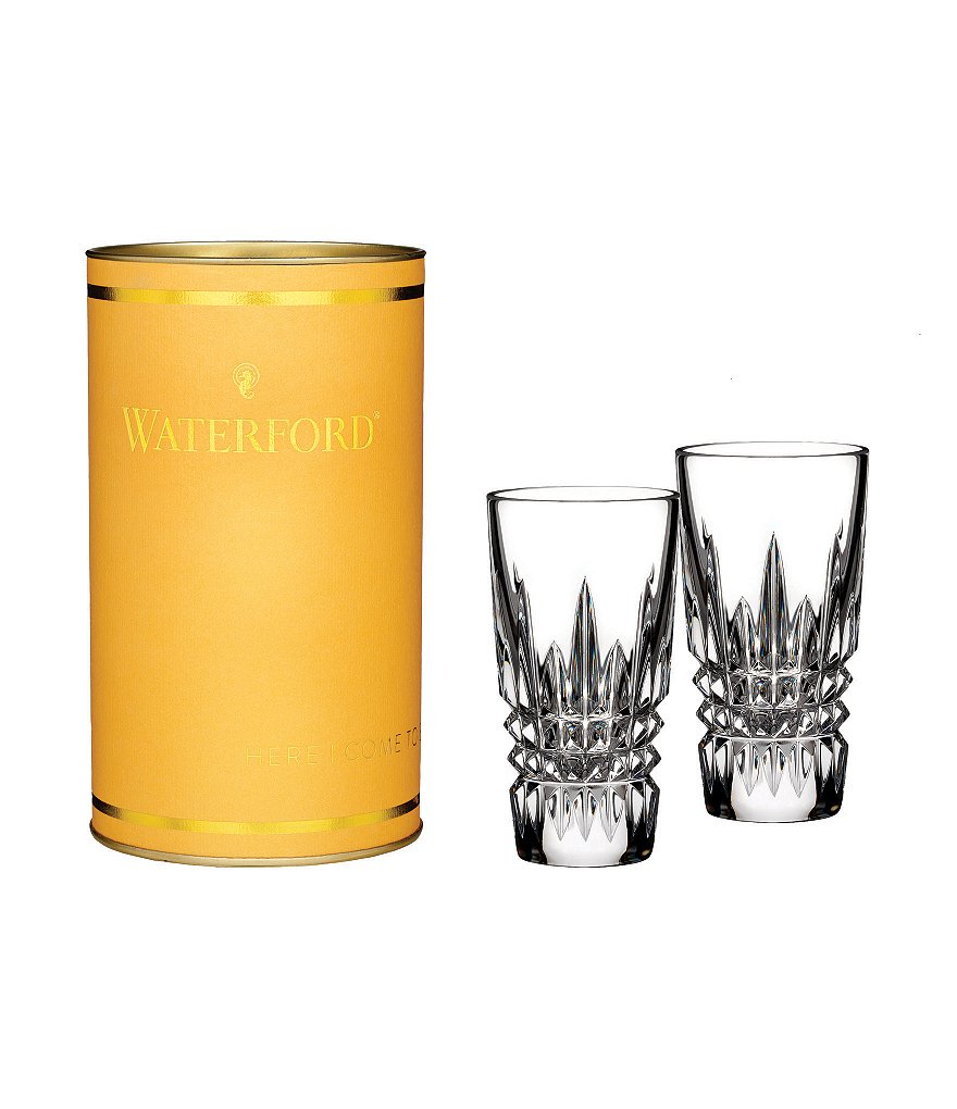 Waterford Giftology Crystal Lismore Diamond Shot Glasses Pair