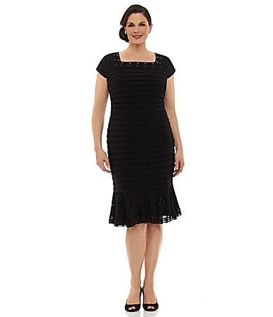 Sale alerts for  Adrianna Papell Woman Banded Trumpet Dress - Covvet