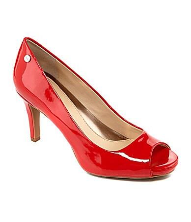 Calvin Klein Kyle Peep-Toe Pumps $ 62.30