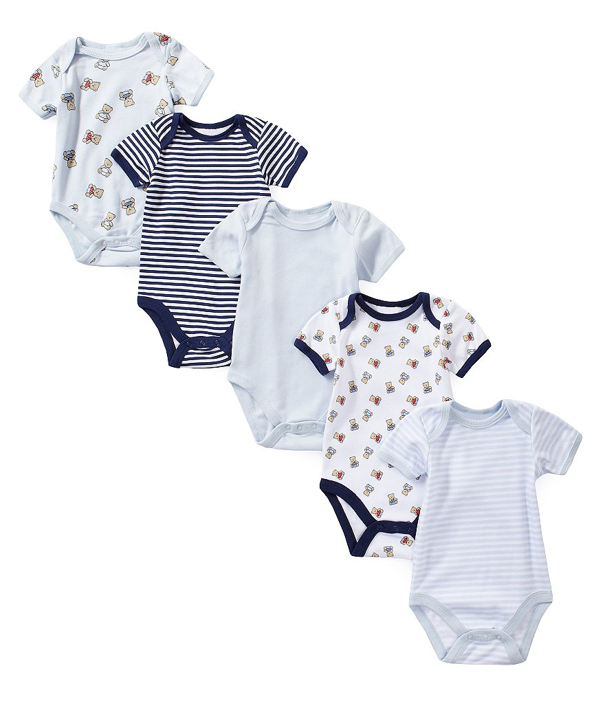 Starting Out Baby Boys Newborn-6 Months 5-Pack Bodysuit