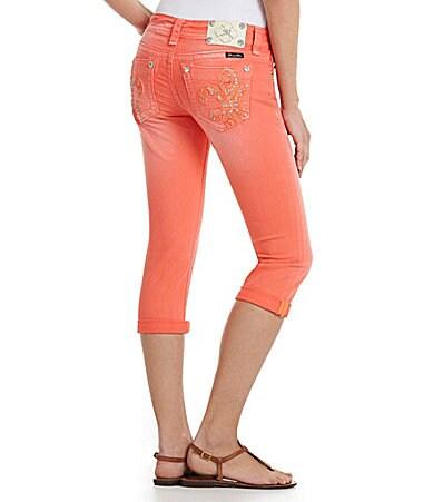 Miss Me Fleur-De-Lis Capri Jeans