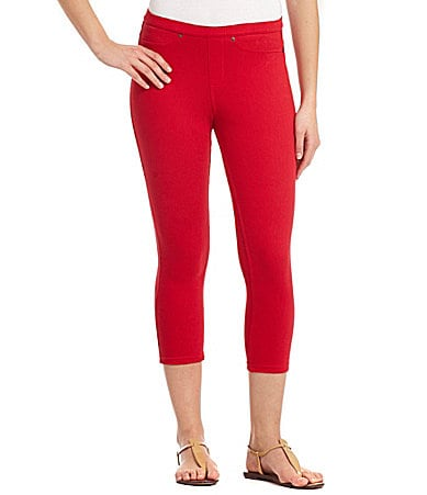 HUE Shaping Denim Capri Leggings