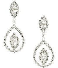 Cezanne Floating Navette Earrings