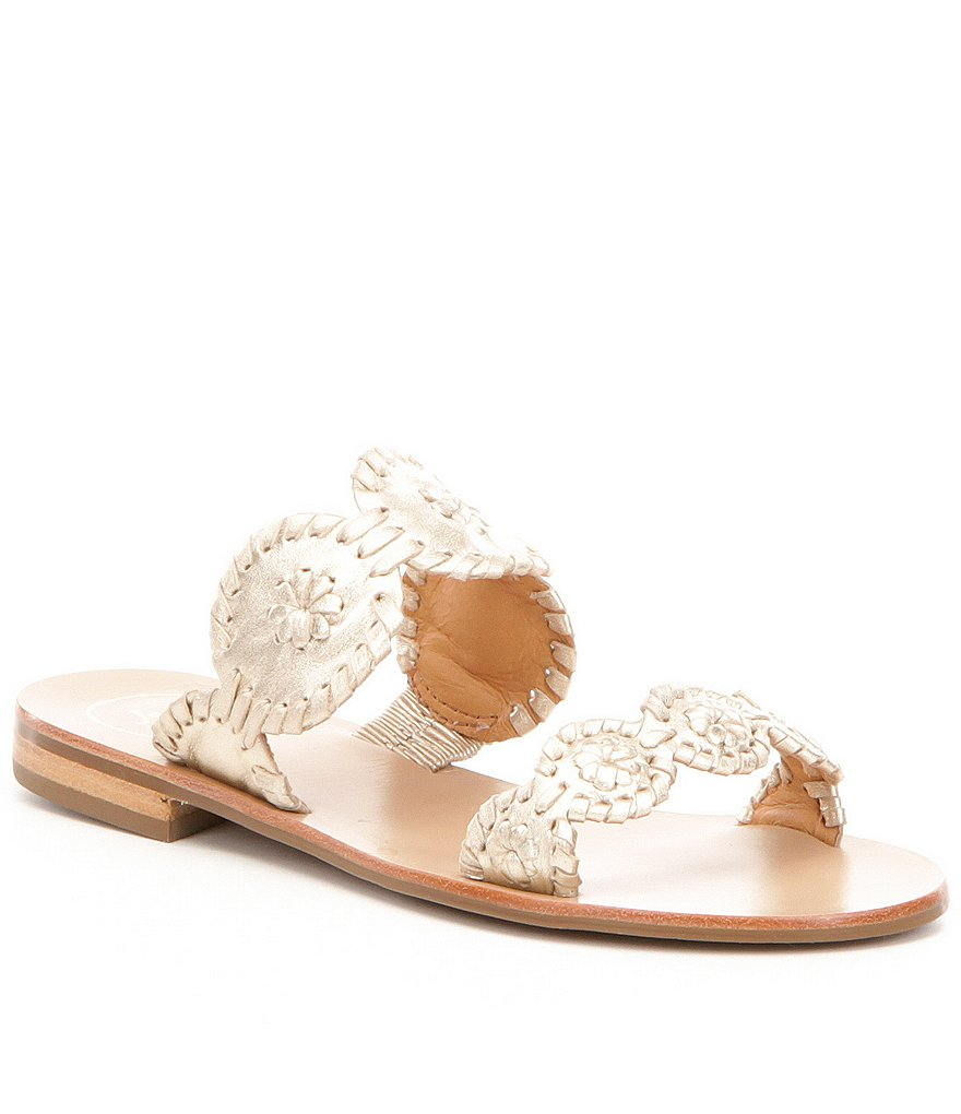 Jack Rogers Lauren Whipstitched Slide-On Sandals
