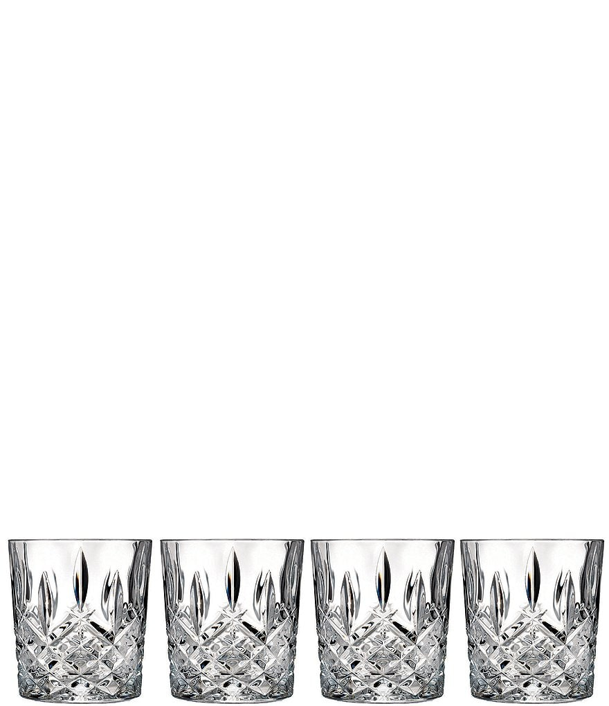 Marquis by Waterford Markham Traditional Crystal Double Old Fashioned Glasses, Set of 4