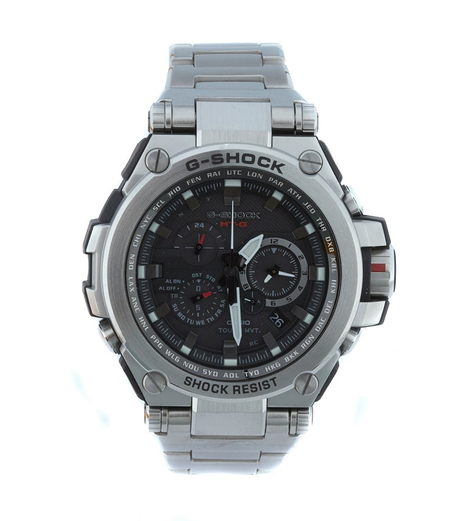G-Shock MT-G, Metal Twisted Stainless Steel Multifunction Watch