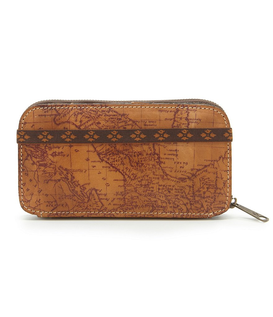 Patricia Nash Signature Map Collection Oria Zip Wallet