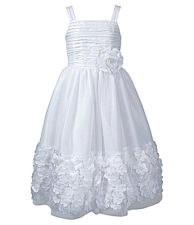 Bloome 7-12 Sleeveless Shirred-Bodice Dress