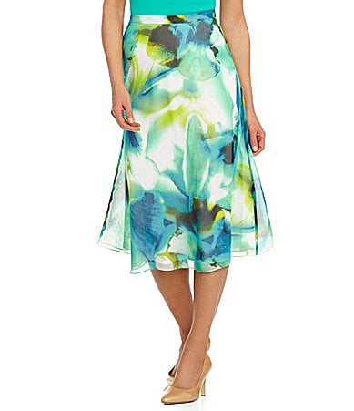 Preston & York Iris Floral Chiffon Skirt $ 69.00