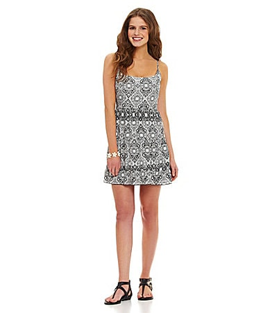 GB Spaghetti-Strap Printed Dress $ 44.00