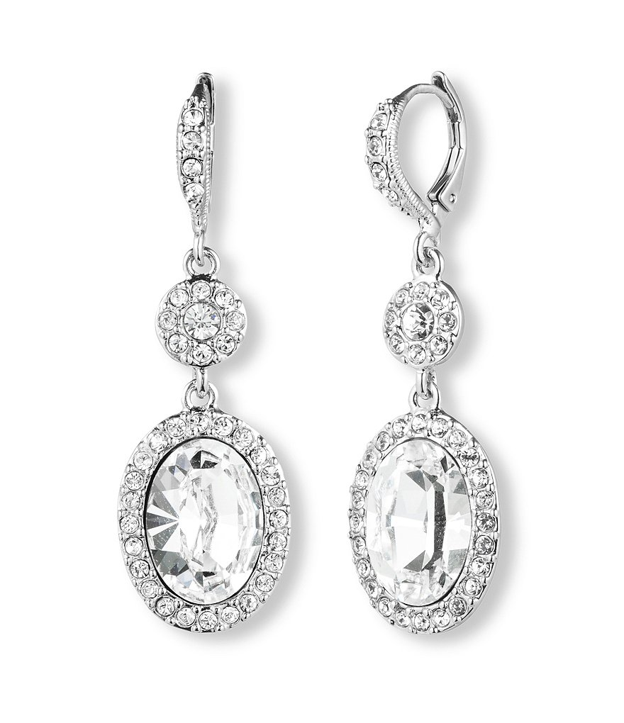 Givenchy Oval Drop Earrings