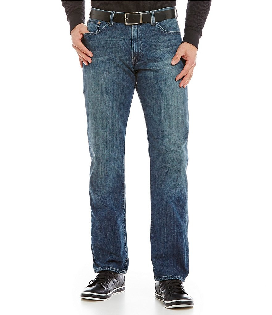 Lucky Brand 221 Original-Fit Straight Blue Gold Jeans