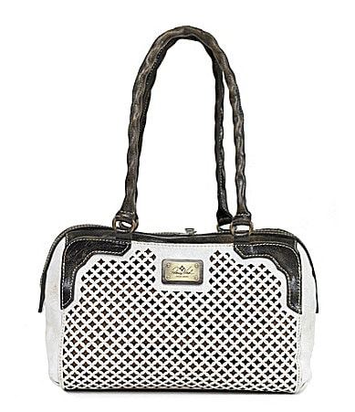 Patricia Nash Fabriano Perforated Colorblock Satchel $ 198.00