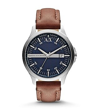 AX Armani Exchange Smart Leather Strap Stainless Steel Watch