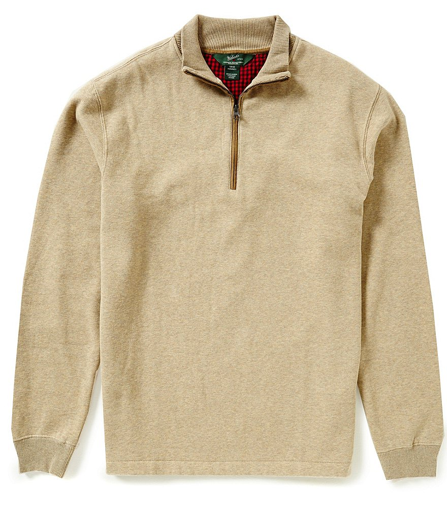 Woolrich Long-Sleeve Faux-Suede Elbow Patch Boysen Half-Zip Mock Neck Pullover