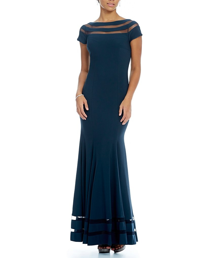 JS Collections Ottoman Fit-and-Flare Gown