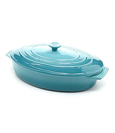 le creuset enamel stonware 14 covered oval casserole dish. Black Bedroom Furniture Sets. Home Design Ideas