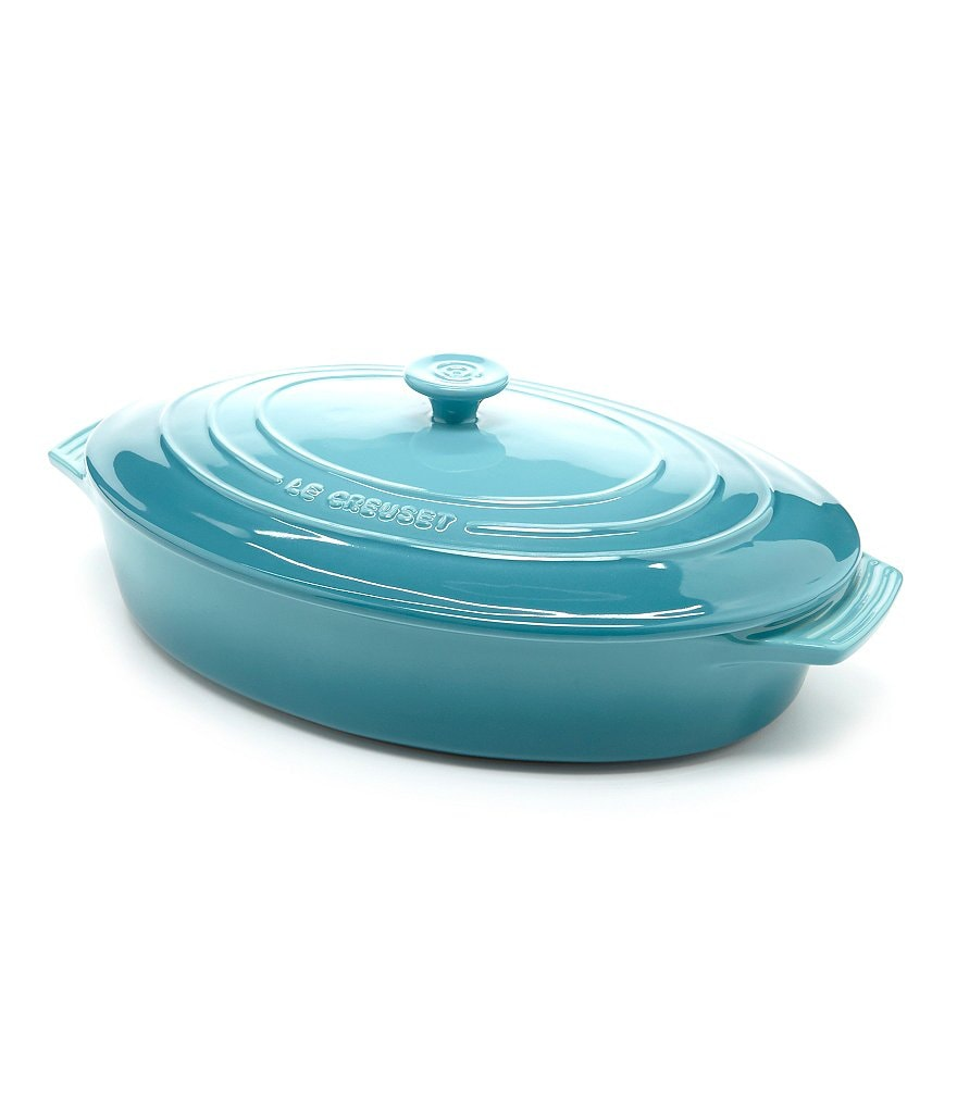 le creuset signature oval stoneware casserole dish with lid dillards. Black Bedroom Furniture Sets. Home Design Ideas