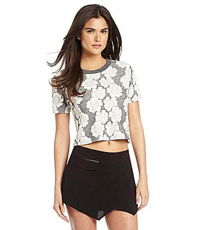 Gianni Bini Bailey Floral Crop Top