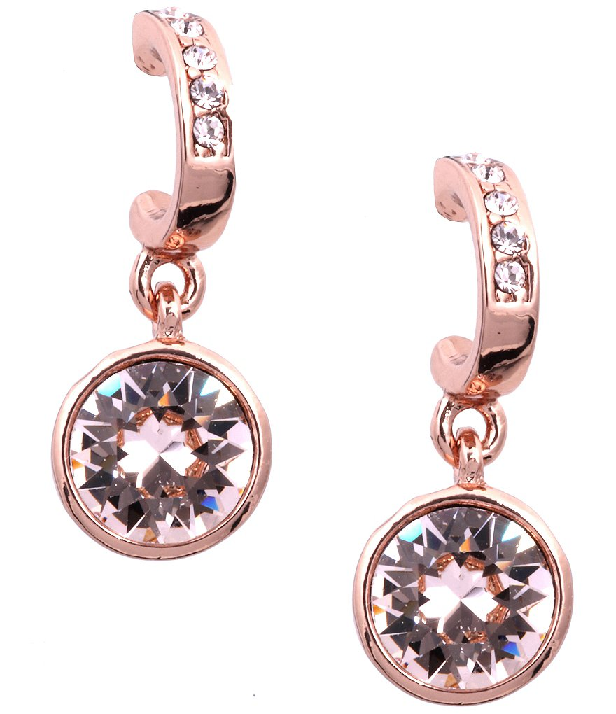 Givenchy Rose Gold Crystal Drop Earrings