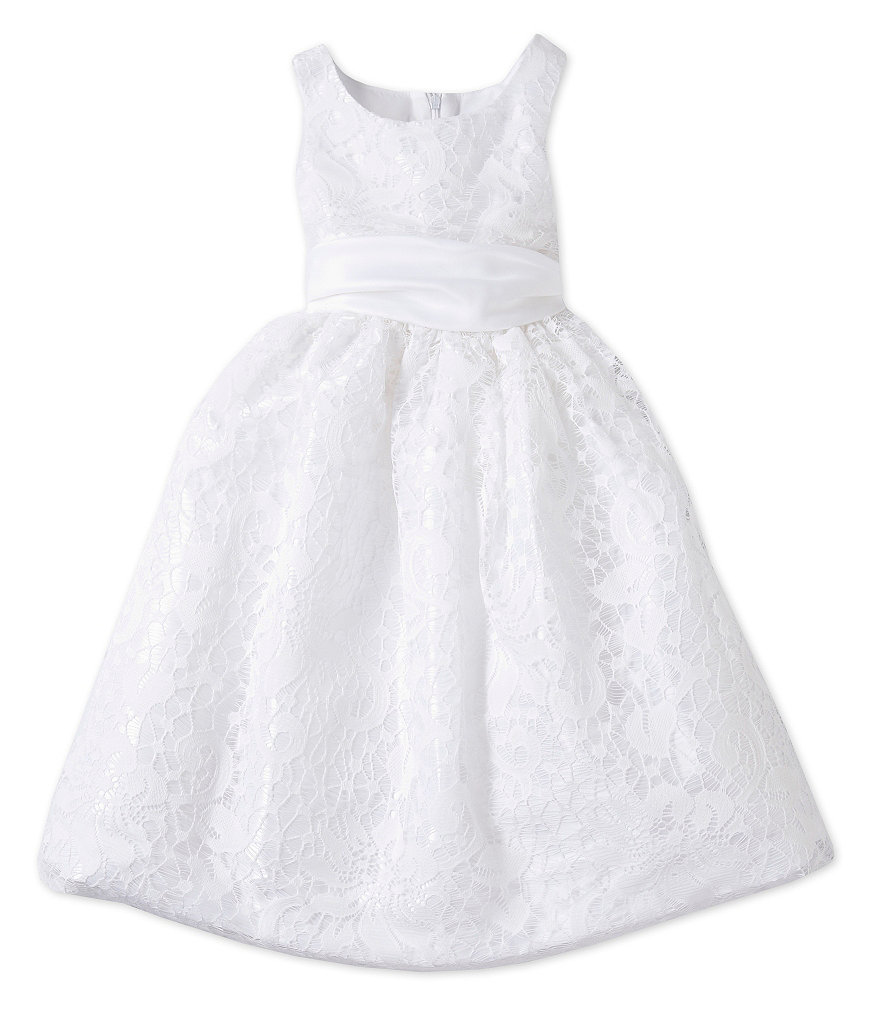 Jayne Copeland 2T-6X Lace-Overlay Dress