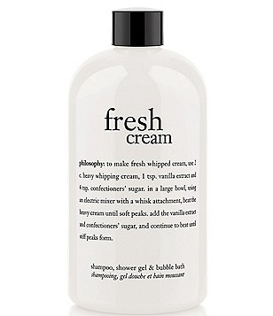 philosophy fresh cream shampoo, shower gel, & bubble bath 16-oz.