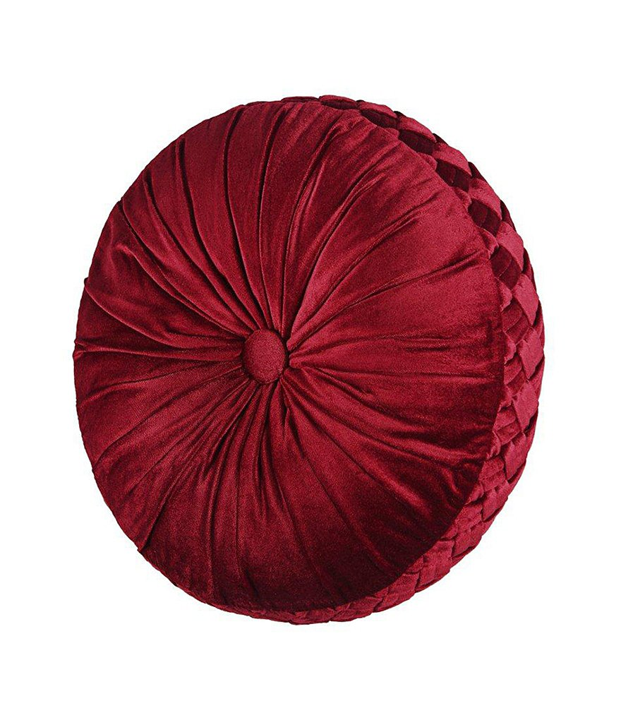 J. Queen New York Roma Button-Tufted Round Pillow