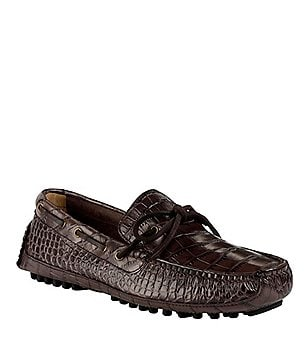 Cole Haan Grant Canoe Camp Casual Croco-Embossed Loafers