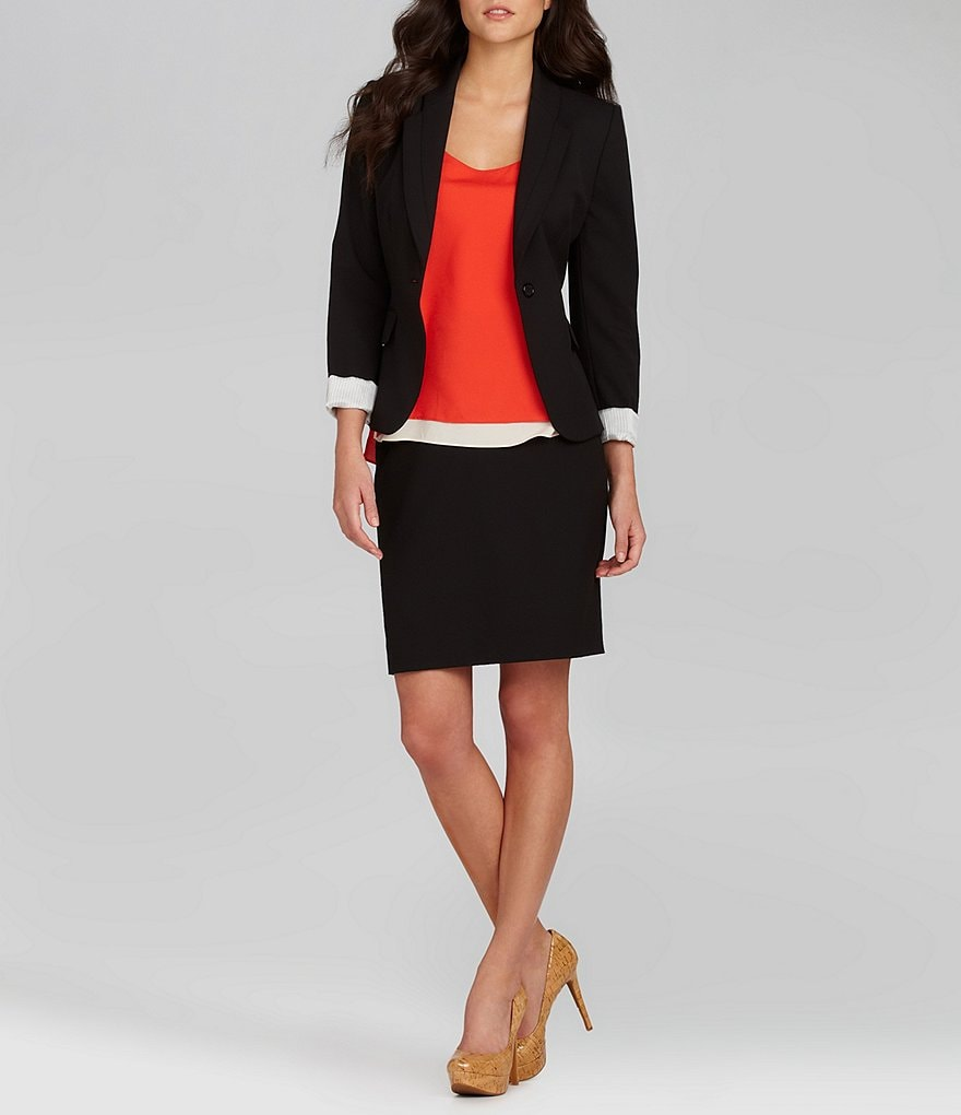 Gianni Bini Annie Jacket & Pierre Pleated Pencil Skirt