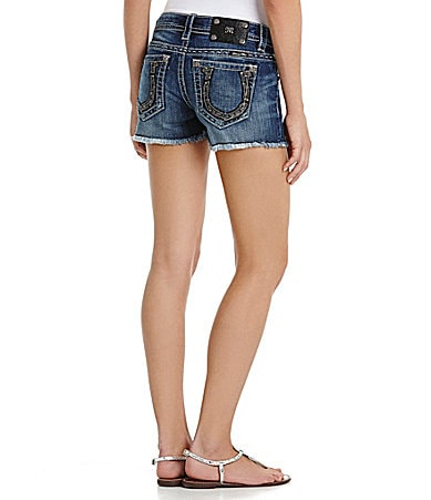 Miss Me Horseshoe Denim Shorts