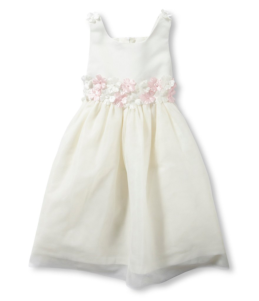 Jayne Copeland 2T-6X Flower-Accented-Waist Dress