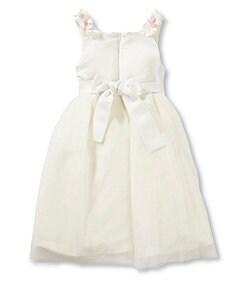 Jayne Copeland 2T-6X Flower-Accented-Waist Dress
