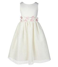 Jayne Copeland 7-12 Flower-Accented-Waist Dress