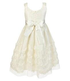 Jayne Copeland 7-12 Rosette-Soutache Dress