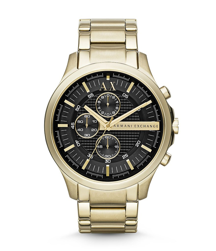 AX Armani Exchange Goldtone Stainless Steel Chronograph Watch