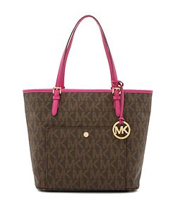 MICHAEL Michael Kors Signature Jet Set Large Snap Pocket Tote