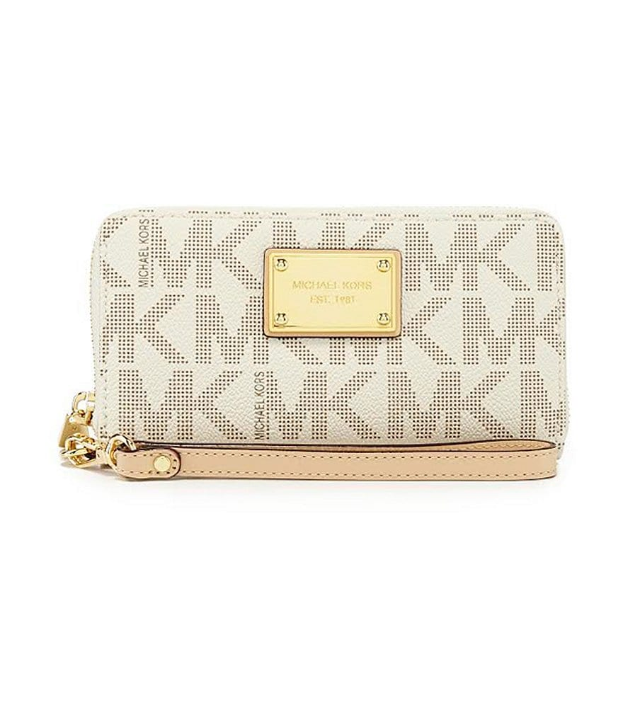 MICHAEL Michael Kors Jet Set Signature Large Coin Multifunction Case