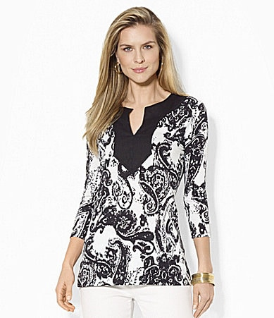 Lauren Ralph Lauren Paisley Cotton Tunic