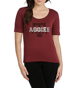 Emerson Street Texas A&M University Jewel Team Top