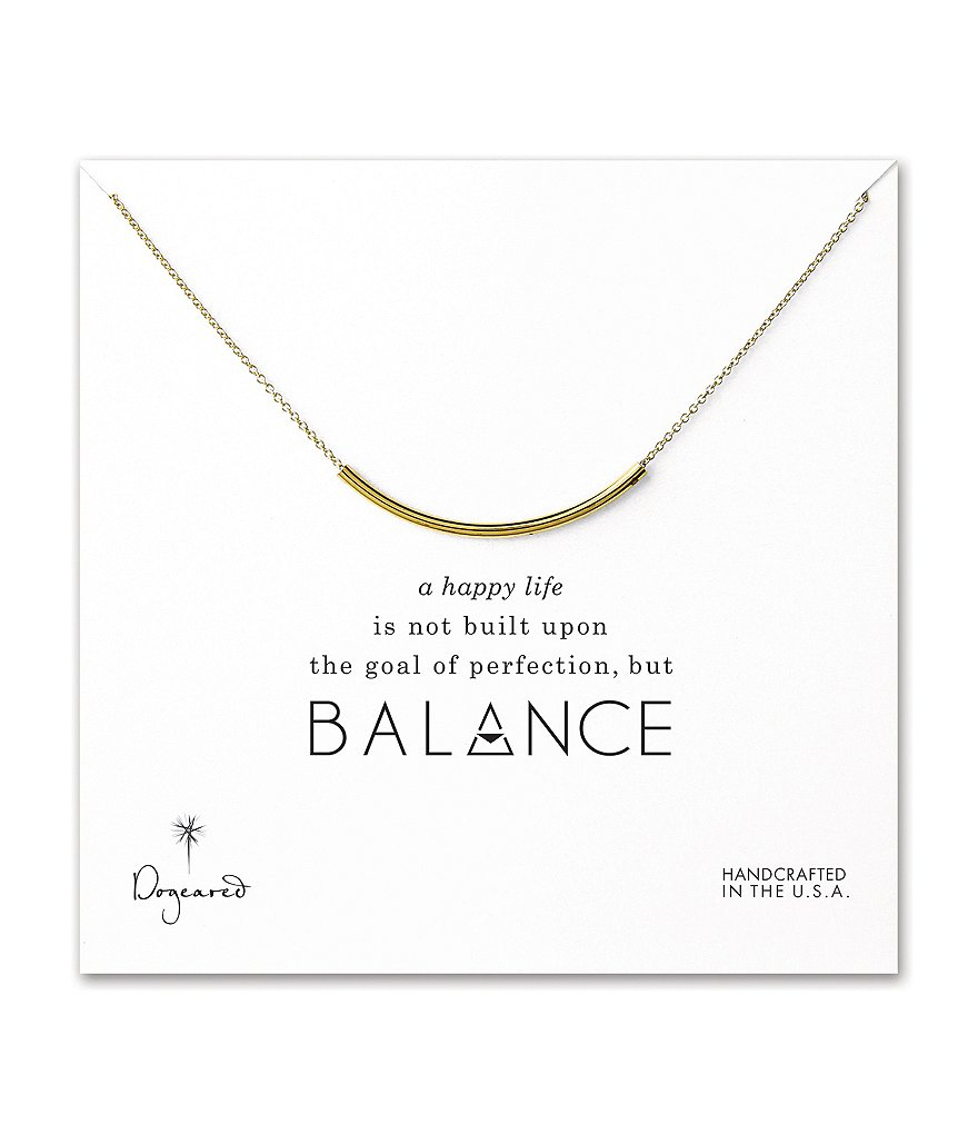 Dogeared Balance Delicate Curved Tube Necklace
