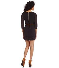 Sequin Hearts Lattice-Hem Dress