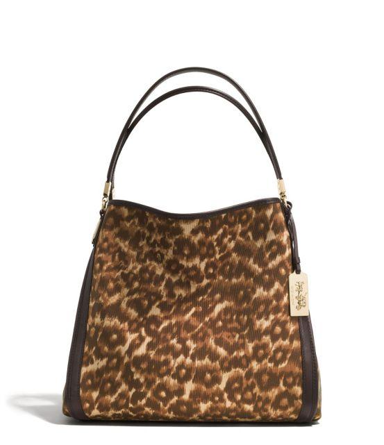 Coach Madison Phoebe Ocelot Fabric Shoulder Bag 102