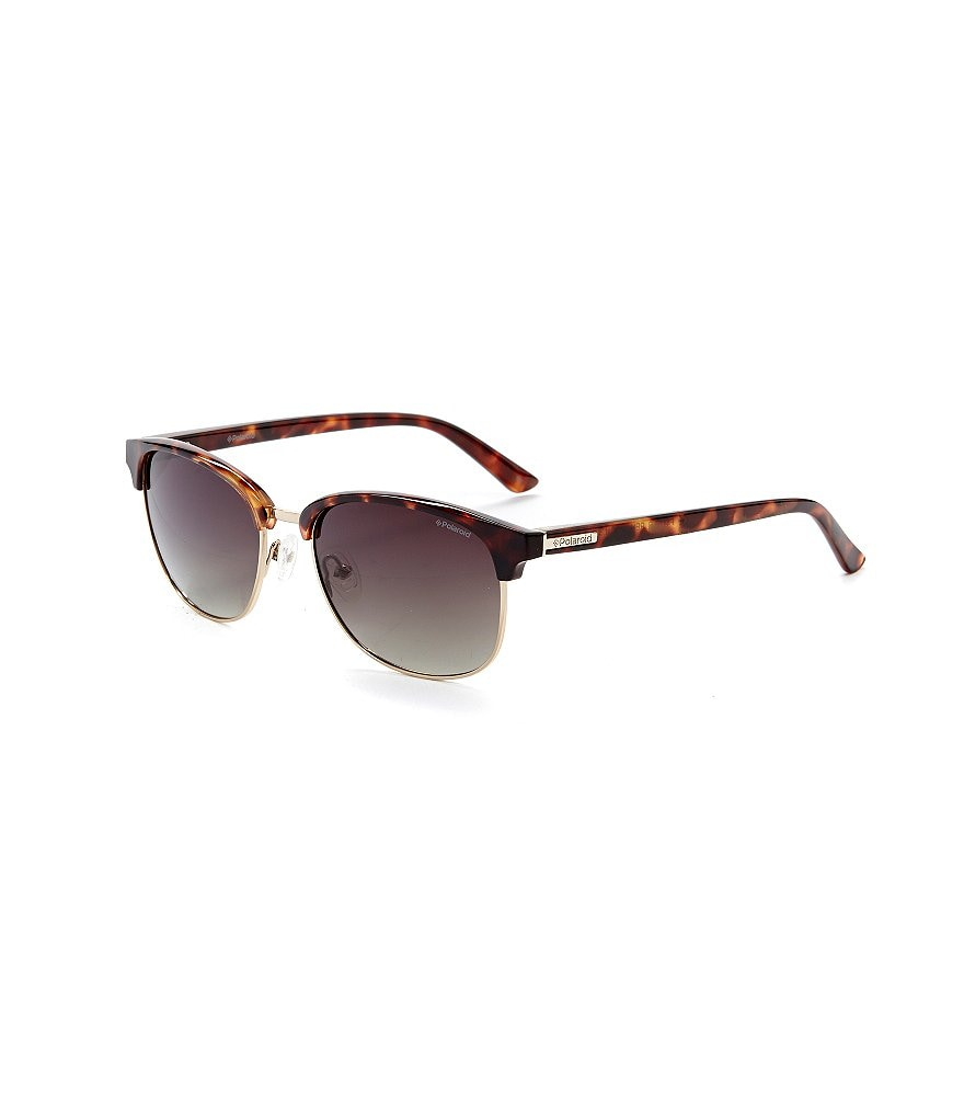 Polaroid Polarized Classic Retro Rectangle Sunglasses