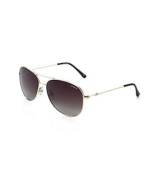 Polaroid Metal UVA/UVB Protection Polarized Aviator Sunglasses