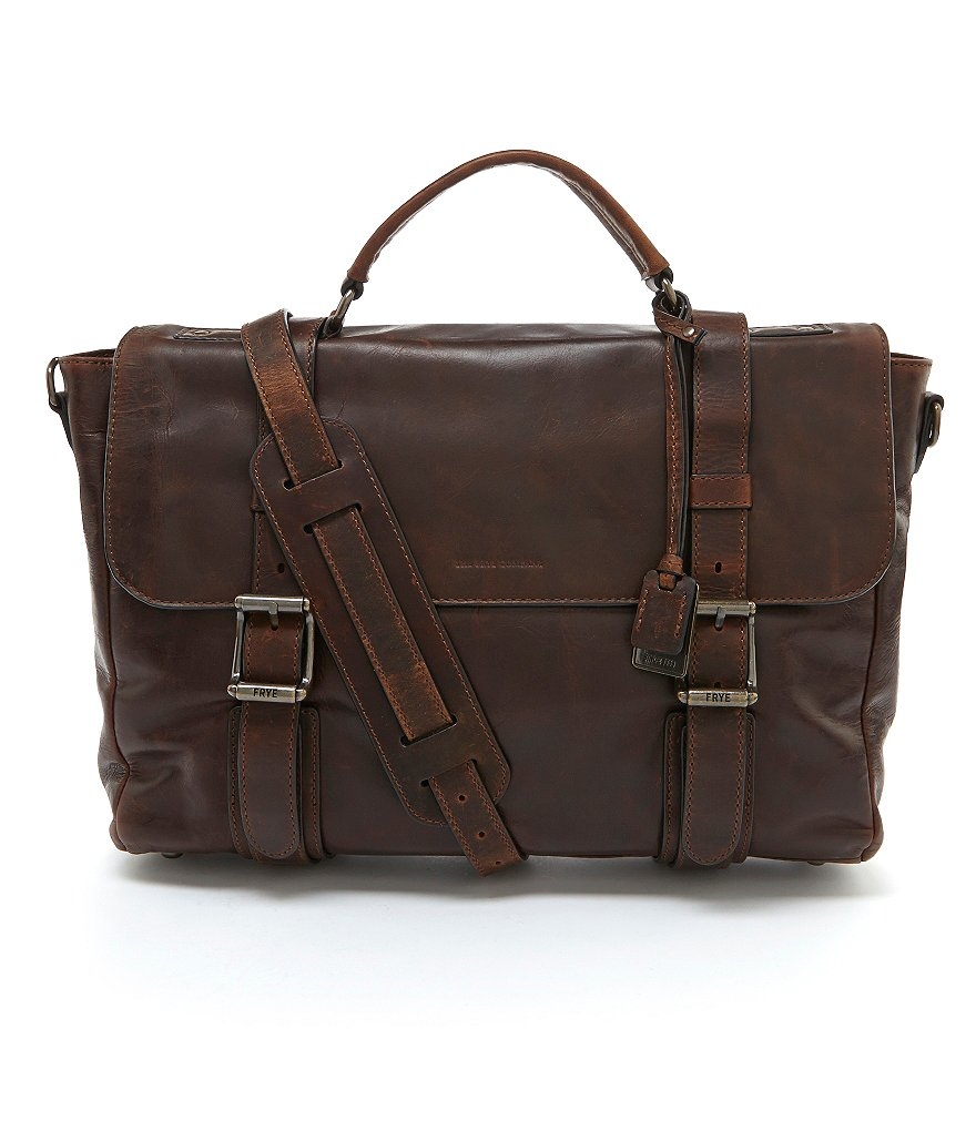 Frye Logan Flap Laptop Briefcase