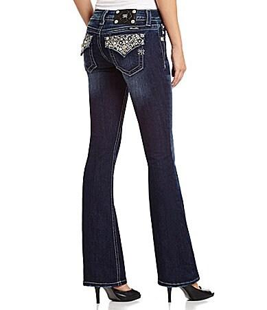 Miss Me Pocket-Embellished Bootcut Jeans