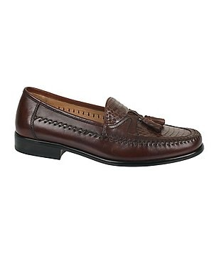 Domani Shoes Ballard Snake Tassel Loafers