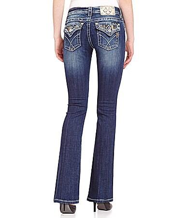 Miss Me Flap-Pocket Bootcut Jeans